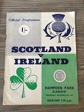 SCOTLAND V IRELAND 1964