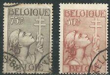 BELGIUM Belgien scott # B146/147 gebraucht Pro TB