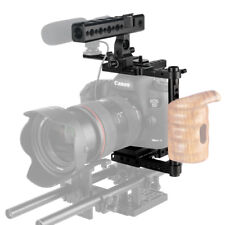 NICEYRIG DSLR Camera Cage with Nato Handle Kit for Canon 5D3 5D4 Sony A9 Nikon