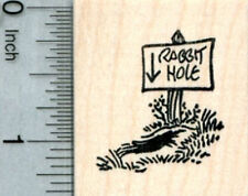 Rabbit Hole Rubber Stamp, Easter Series D32112 WM