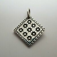 Eight Point Star QUILT CHARM for Bracelet PENDANT Quilt Jewelry STERLING Silver