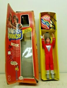 Vintage Robin Williams Mork from Ork Doll Pull Cord Talking Space Pack w/ OB