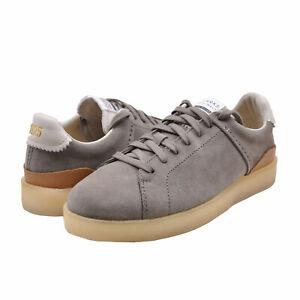 Men's Shoes Clarks Originals TORMATCH Retro Tennis Sneaker 62048 LT GREY SUEDE