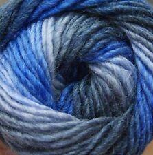 King Cole Riot Chunky Multi Coloured Knitting Wool Yarn 100g Denim 650