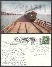 1912 Utah Postcard - Salt Lake City - Railroad Train on Lucin Cut-Off