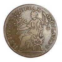 Jeton Louis XIV Type mixte La Paix (avers) et La Justice (revers) vers 1654