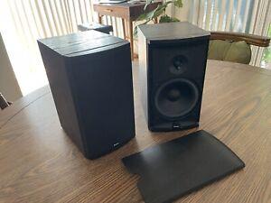 Boston Acoustics CR6 Bookshelf 100W Black Speakers (2) Great Sound! Made in USA