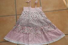 H&M Kleid Patchwork rosa Gr. 98 fleurs Blümchen Drehkleid Stufenkleid Vichy