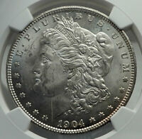 1904 UNITED STATES of America SILVER Morgan US Dollar Coin EAGLE NGC i79606
