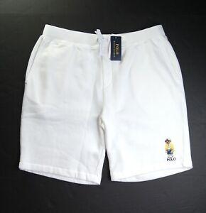 POLO RALPH LAUREN Men's White Polo CP-93 Bear Fleece Shorts NEW NWT