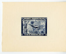 1943 Homan Private Proof Christmas Stamp Issue XF Rare