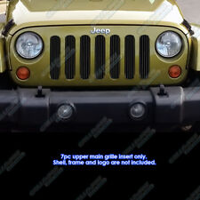 Fits 2007-2013 Jeep Wrangler Vertical Black Billet Grille 2008 2009 2010 2011