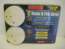 NEW Kidde 2 Smoke & Fire Alarms Long Life Battery Protects Family State Of Art