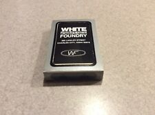 WHITE FARM EQUIPMENT FOUNDRY Collectible Playing Cards Silver and Black Package