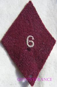 IN9926 - Insigne TISSU LOSANGE DE BRAS 6° Section d'Infirmiers Militaires