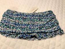 Profile Gottex Swim Skirt Swimsuit E132-1P84 Blue Pink Ruched Sexy Sz 14 $78.00
