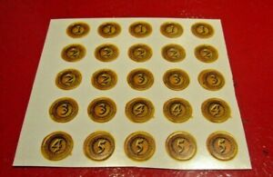 Dark World Board Game Spares Gold Coins Full Set on Card