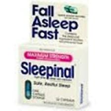Sleepinal Night-Time Sleep Aid, Maximum Strength, Capsules, 32 count (3 Pack)
