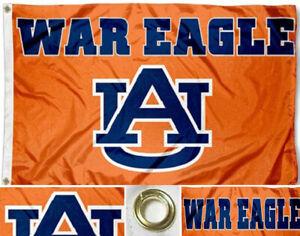 Auburn Tigers War Eagle Flag ~ Large 3'X5' ~ Auburn Sports Fan ~ FREE SHIPPING
