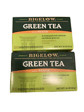 LOT OF 2: Bigelow Green Tea With Peach All Natural Cold/flu Remedy (40 Bags)
