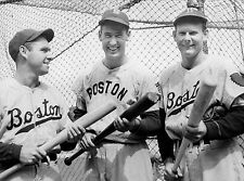 STARS Tommy Holmes, Ted Williams Max West of the Boston Braves & Red Sox 8x10