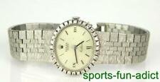 ROLEX Women's Cellini 18k White Gold Diamond Bracelet Watch Vintage Ladies