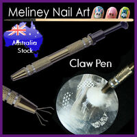 Claw Pen Retractable Nail Art Grabber Pick Up Tool Manicure Saver Stamping
