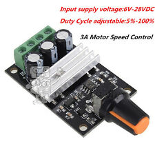 PWM DC 6V 12V 24V 28V 3A Motor Speed Control Switch Controller New
