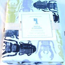 "Pottery Barn Kids BEETLE & BUGS Standard Pillowcase Green Gray Navy 30 x 20"" NEW"