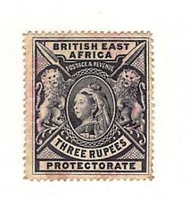 British East Africa Protectorate Three Rupees Scotts #85 Unused  Bold Color