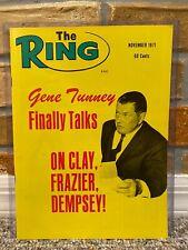 THE RING BOXING VINTAGE MAGAZINE GENE TUNNEY November 1971 MINT UNREAD