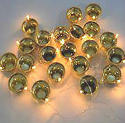 Festival Light 20 Golden Diya,lamp series for Diwali Temple Decoration light