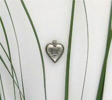 Vintage Sterling Silver Uncle Sams Hat Puffy Heart Bracelet Charm 1940's