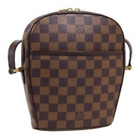 LOUIS VUITTON IPANEMA PM SHOULDER BAG VI0048 PURSE DAMIER EBENE N51294  36593