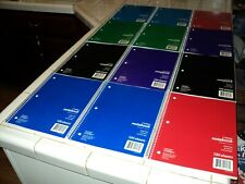 Lot 12 Office Depot  3 Sub Wirebound College Ruled Notebook,120 Sheets, 8x10.5in