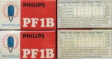 "* PHILIPS "" LAMPADINE PER FLASH * PHOTOFLUX PF 1B * N° 2 Conf./5"