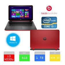HP Pavilion 15-p077sa Beats 15.6 NOTEBOOK INTEL i3 1TB 8GB RAM ROSSO * GARANZIA DPD *
