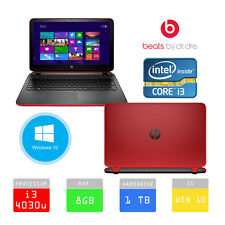HP Pavilion 15-p077sa Beats 15.6 LAPTOP INTEL i3 1TB 8GB RAM RED *WARRANTY DPD*