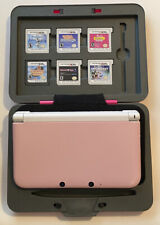 Nintendo 3DS XL Pink Handheld Console Bundle + 6 GAMES + Hard Case Cooking Mama