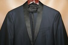 #140 Kenneth Cole Shawl Collar Tuxedo Size 36 Short  Blue-Black Polyester Blend