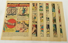 1949 twelve page cartoon story ~ HISTORY OF BOXING