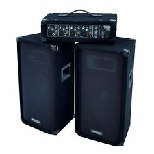 NEW PUB CLUB DISCO 300W PA SYSTEM SET UP DJ MIXER SPEAKERS AMPLIFIER RRP £400