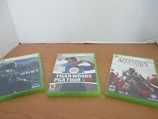 XBOX 360~Lot of 3 Video Games~HALO 3 ODST~TIger Woods~ASSASSINS CREED II
