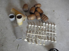 Lot of HO O Scale Wood Beer Barrels Signs and Tube Sections LOOK