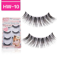 2020 Sale! New Hw-10 50pairs Clear band Nature False eyelashes fake eye lashes