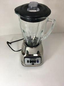 Oster Blender BCBG08C00NP0 2-Speeds Blender Chrome. Glass 6 Cups.