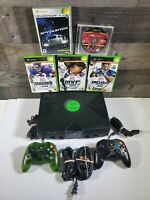 Microsoft Xbox Original Console with 2 Controllers and 5 Games Cleaned Tested 🎮