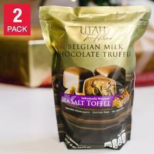 Utah Truffles Milk Chocolate Sea Salt Toffee Truffles 2-Pack