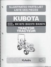 Kubota BX1870 BX2370 BX2670 Tractor Illustrated Parts Manual 97898-25491