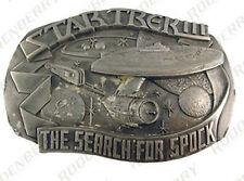 Star Trek III Search for Spock Commemorative Metal Belt Buckle- FREE S&H